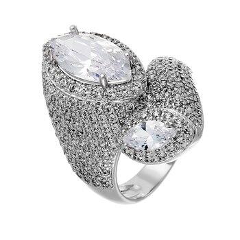 Кольцо из серебра с фианитами R01221