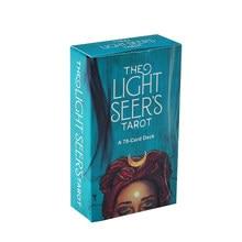 Cartas de oráculo Light Seer en inglés, instrucciones en PDF para juegos de mesa familiares, guía, adivinación, juego de cartas de Tarot, 78 Uds.