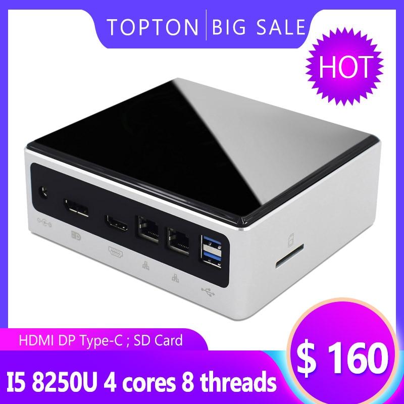 10th Gen Mini PC Intel I7 10510U / 8550U 4 Core 8 Threads 2*DDR4 M.2 NVMe NUC Pocket Computer Win10 Pro Linux WiFi USB-C DP HDMI