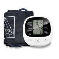 Automatico Digitale Superiore Del Braccio di Pressione Sanguigna Monitor di Battimento di Cuore Vota Pulse Meter Tonometro Sfigmomanometri cardiofrequenzimetro