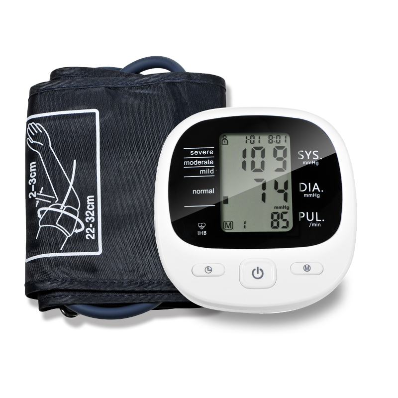 Digital Automático Superior Monitor De Presión Arterial De Brazo Corazón Ritmo De Esfigmomanómetros Y Tonómetros Pulsometer