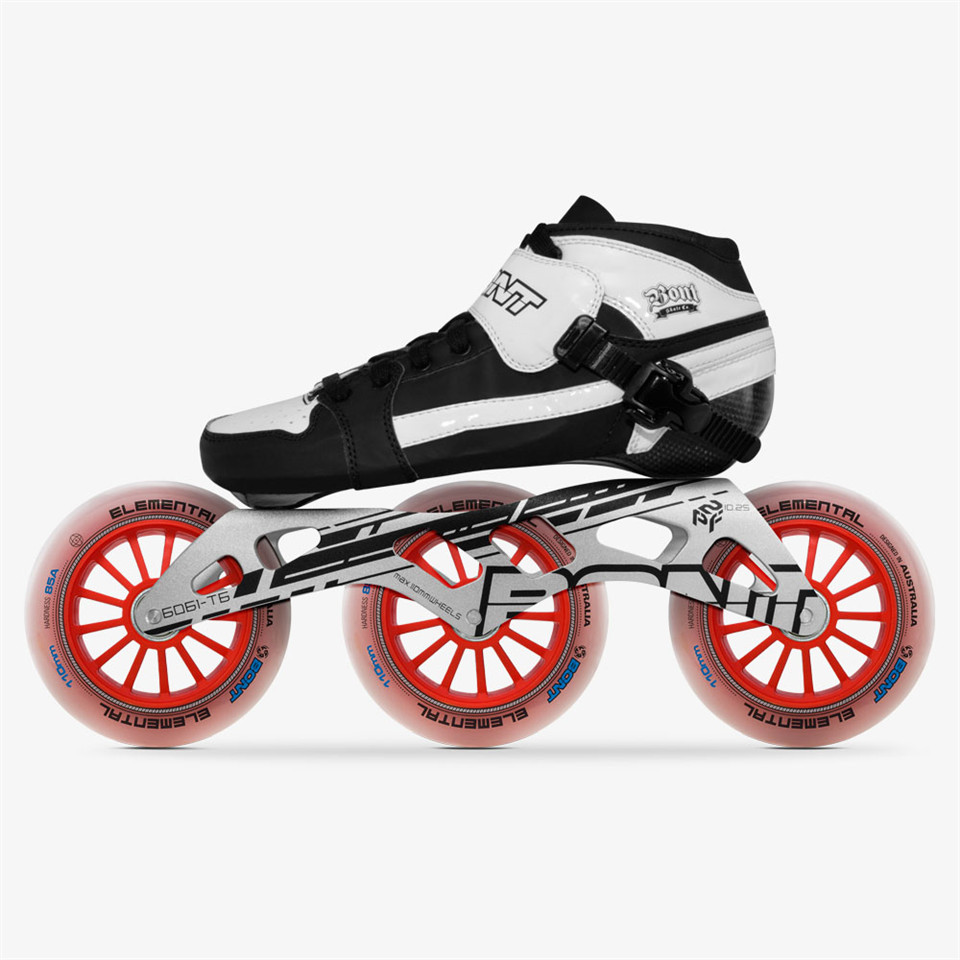 Original Bont Pursuit 3*90/100/110mm Professional Speed Inline Skates Heatmoldable Carbon Fiber Racing Patines Kids Men Adult