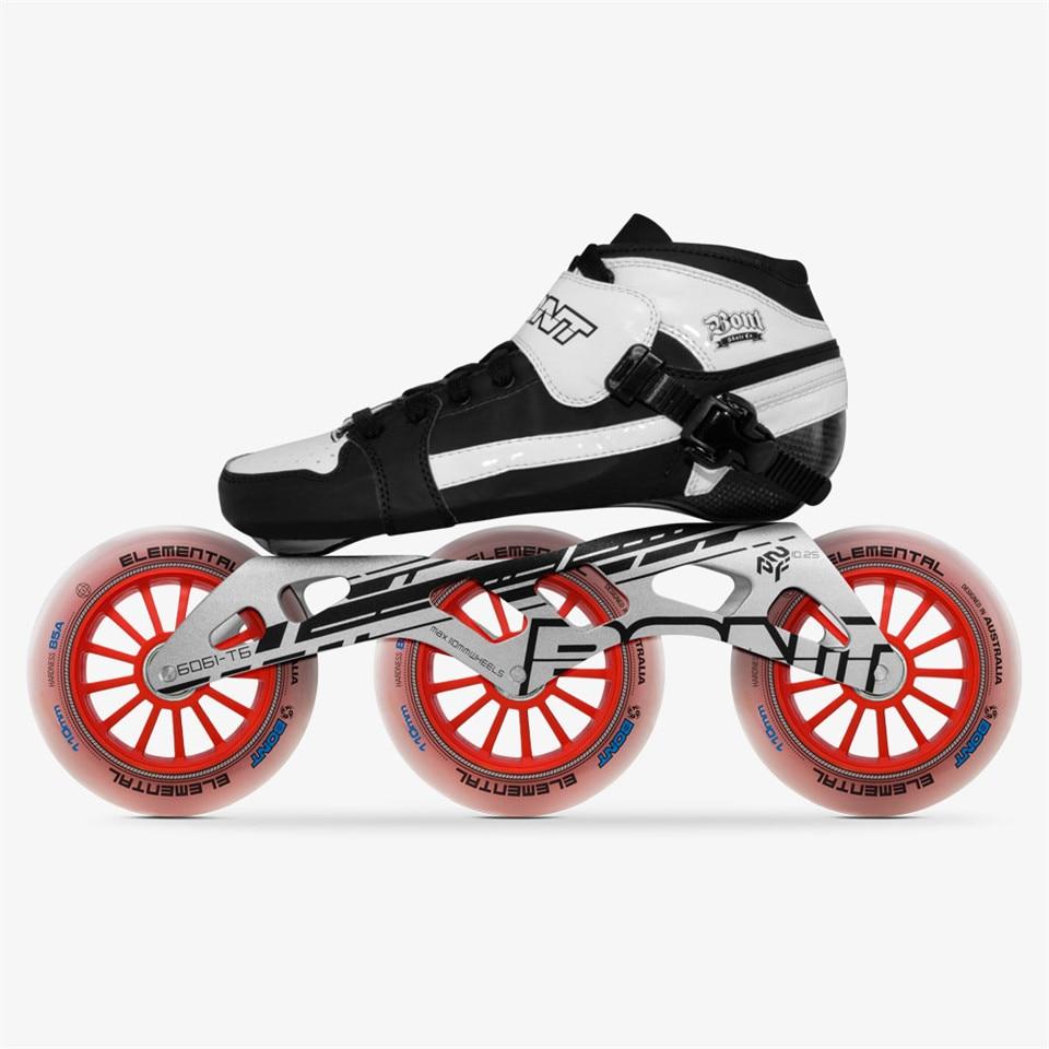 Original Bont Pursuit 3*90/100/110mm Professional Speed Inline Skates Heatmoldable Carbon Fiber Racing Patines Kids Men Adult