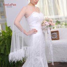 Youlapan g23 элегантные перьями свадебные туфли; Свадебная накидка