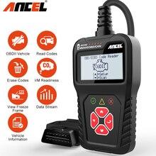 Ancel escáner automático AS100 OBD2, lector de código de motor ODB2, diagnóstico de coche multilingüe, escáner automotriz PK ELM327, actualización gratuita