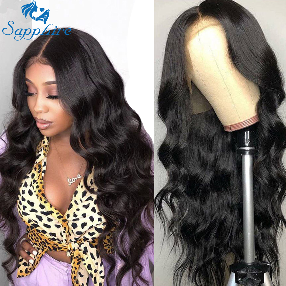 Sapphire Lace Frontal Human Hair Wigs Body Wave 360 Lace Frontal Wig For Women Brazilian 360 Lace Frontal Human Hair Wigs