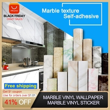 3D שיש ויניל סרט עצמי דבק עמיד למים לאמבטיה מטבח ארון משטחי קשר נייר PVC קיר מדבקה
