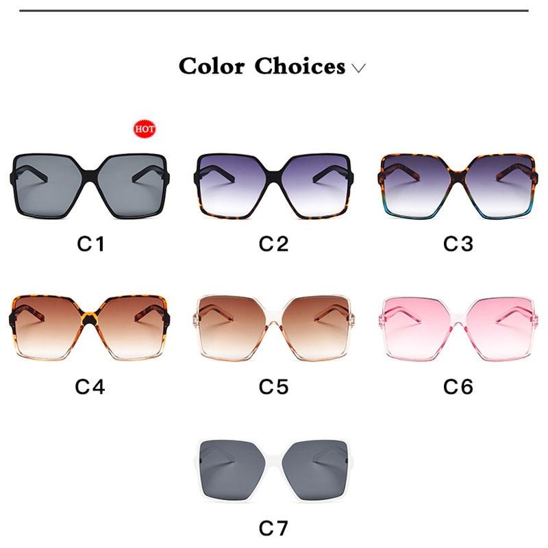 Vintage Oversize Square Sunglasses Women Luxury Brand Big Frame Women Sun Glasses Black Fashion Gradient Female Glasses Oculos in Women 39 s Sunglasses from Apparel Accessories
