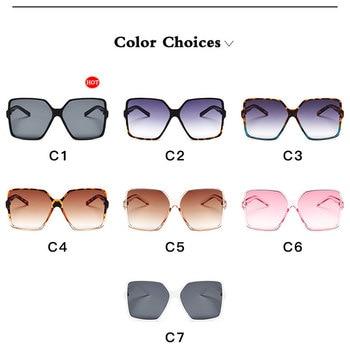 Vintage Oversize Square Sunglasses Women Luxury Brand Big Frame Women Sun Glasses Black Fashion Gradient Female Glasses Oculos 10