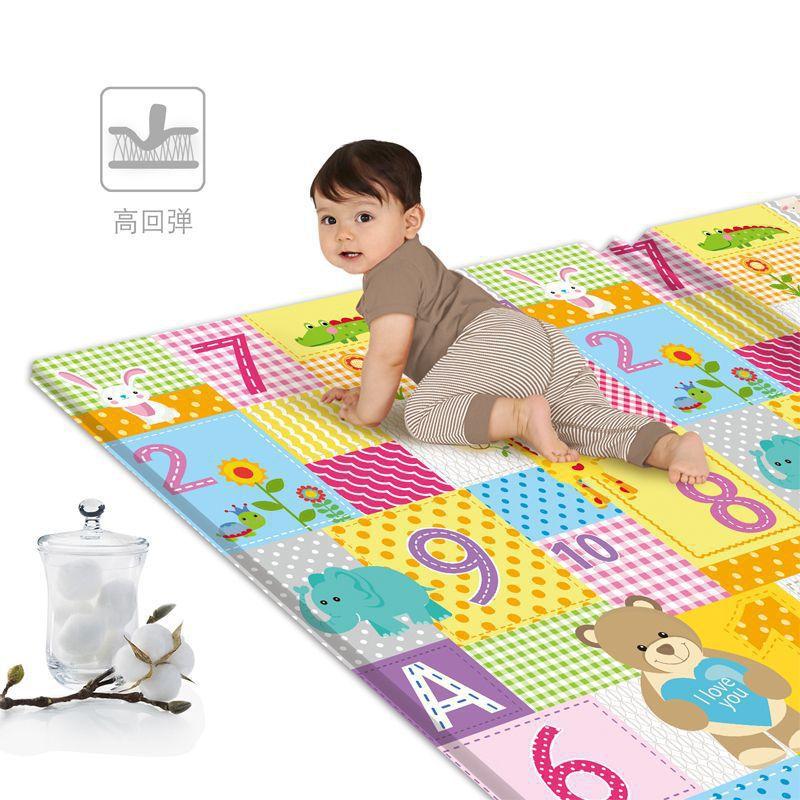 Детский игровой коврик для ползания, складной мультяшный пазл, обучающий Детский ковер для детской комнаты, коврик для скалолазания, детски...