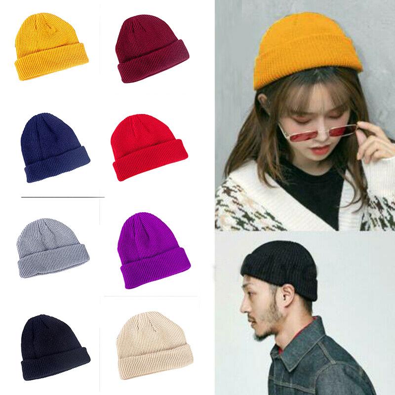 Retro Knitted Fisherman Beanie Hat Vintage Solid Type Warm Hats For Men Women H9 Men S Skullies Beanies Aliexpress