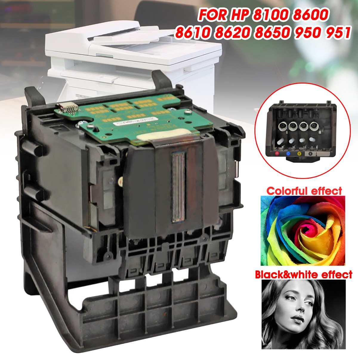 LEORY tête d'impression 4 couleurs tête d'impression remplacement avec/sans tablette imprimantes compatibles pour HP 8100 8600 8610 8620 8650 950 951