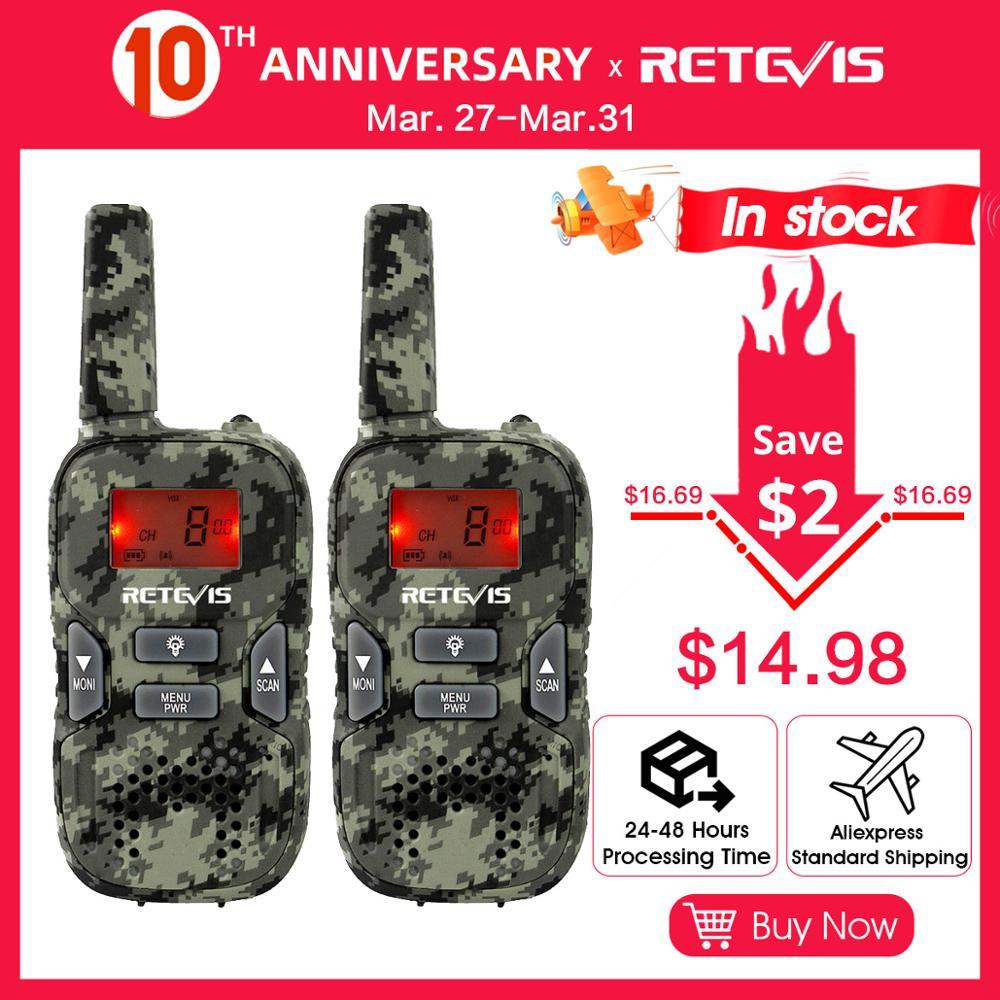 Retevis RT33 Mini Walkie Talkie 2pcs  Kids Two-way Radio 0.5W PMR Radio PMR446 FRS VOX Flashlight Christmas Gift/New Year Gift