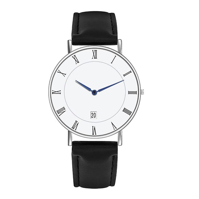 Top Brand Mens Watches Simple Minimalist Date Calendar Quartz Roman Numerals Watch Designer Luxury Business Classic Wrist Watch
