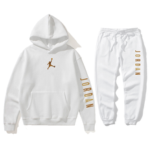 Nova venda quente conjunto de hoodie masculino jordan 23 conjunto de pulôver de lã com capuz + sweatpants moda feminina pulôver moletom