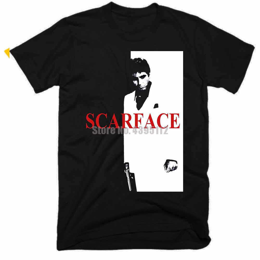 Scarface Movie Homme T-Shirts Hip Hop Clothing Tshirts 3D Print T Shirt O Neck T Shirts Mens Tops