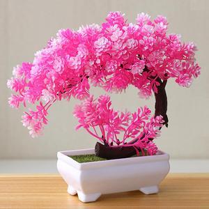 Новые искусственные растения бонсай маленькое дерево горшок растения украшения для украшения дома декор для сада отеля