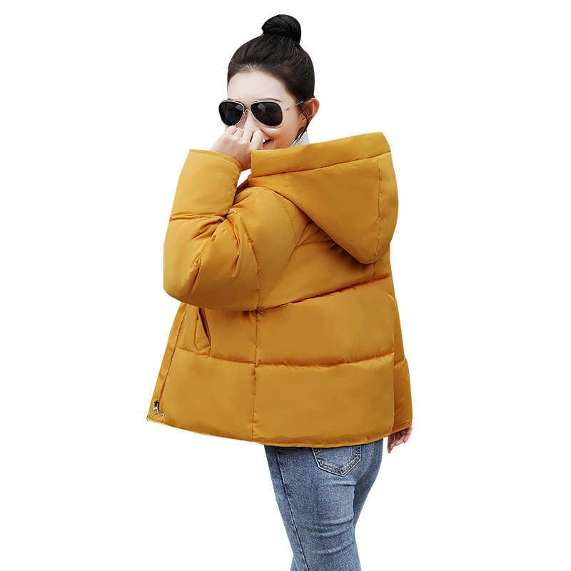 ฤดูหนาวผ้าฝ้ายผู้หญิงสั้น Fund Chic ขนมปังเสิร์ฟนักเรียนฝ้ายเบาะแจ็คเก็ตเสื้อหลวมเสื้อผ้า
