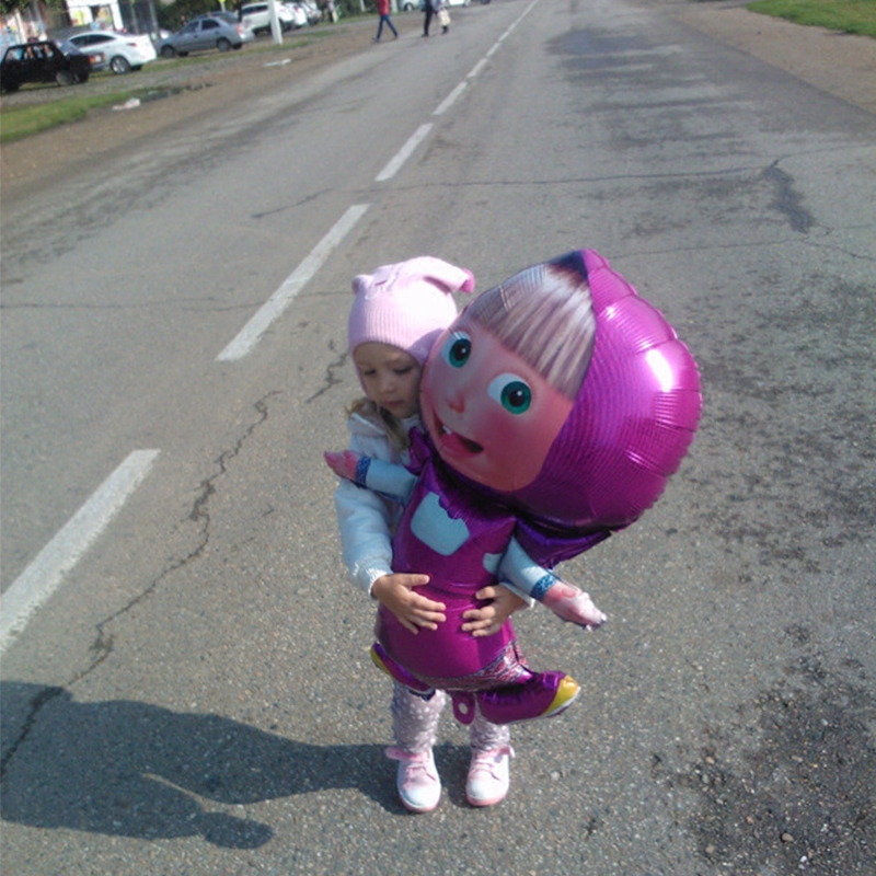 97 * 60cm Large Stereo Martha Balloons Cartoon Foil Balloons Children's Birthday Party Sets Children's Toys Gifts