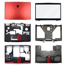 Original novo portátil para dell alienware m17x r3 r4 lcd capa traseira/moldura dianteira/encosto de mãos/caso inferior/e capa 00mkh2 0mkh2 0c63py