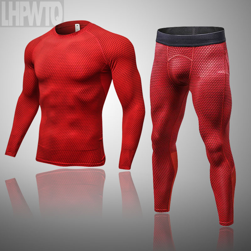 New Brand Winter Sets Men clothing thermal Quick Dry Antimicrobial Men's Hot Tights Mens thermal Long Johns Quick dry Fitness