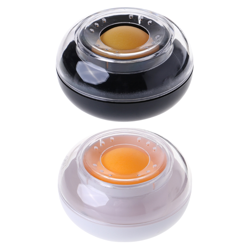 Plastic Round Case Sponge Finger Wet Wetted Tool For Casher Counting Cash Money