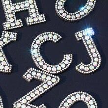 26 Английских Букв, стразы, нашивки, 3D цифры, алфавит, стразы, аппликация, A-Z, 1-9, железные нашивки, Значки для имени, сделай сам, одежда