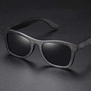 Image 4 - EZREAL gafas de sol polarizadas de madera para hombre y mujer, anteojos de sol de marca de lujo, de diseñador, estilo Vintage, con caja redonda