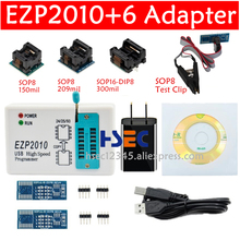 EZP2010 במהירות גבוהה USB SPI מתכנת עם SOP8 150mil 200mil SOP16 Adpater SOIC8 IC פלאש מבחן קליפ havEZP2011 EZP2013 EZP2019