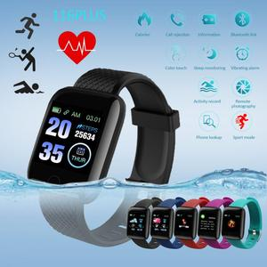 116 PLUS Bluetooth Smart Watch Blood Pressure Monitor Waterproof Fitness Tracker Bracelet Heart Rate Smartwatch For Android IOS