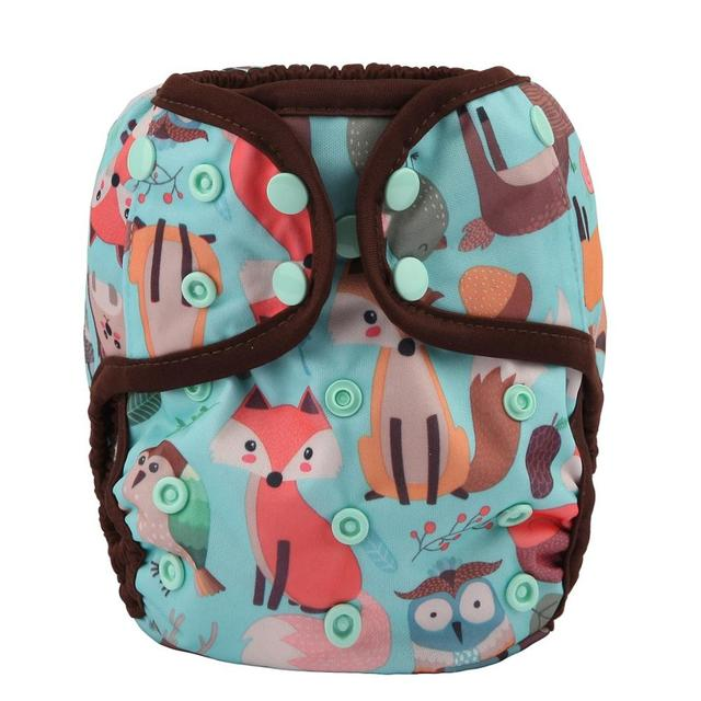 [Sigzagor]6 One Size Baby Cloth Diapers Covers Nappies Adjustable Waterproof PUL Double Gusset OS 4kg to 13kg,40 Designs
