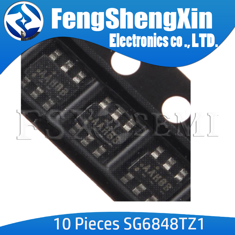 10pcs/lot SG6848TZ1 SOT23-6 SG6848 SG6848T AAH Low Cost Green-Mode PWM Controller for Flyback Converters