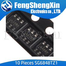 10 pçs/lote SG6848TZ1 SOT23-6 SG6848 SG6848T AAH Verde-Mode PWM Controlador de Baixo Custo para Conversores Flyback