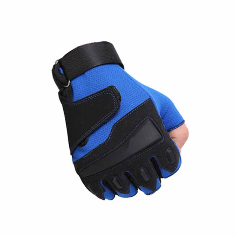 Half finger breathableGym Fitness <font><b>Gloves</b></font> Power Weight Lifting Women Men Crossfit <font><b>Workout</b></font> Bodybuilding Half Finger Hand Protector image