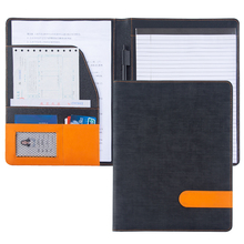 цена на A4 Portfolio padfolio PU Leather Conference Bag Business Briefcase Office School Supply Document file folder