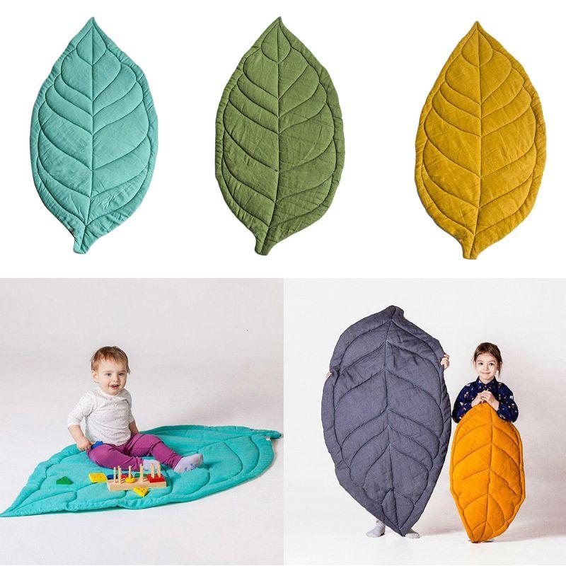 Newborn Baby Carpet Kid Children Room Decor Leaf Shape Soft Crawling Play Mat P31B