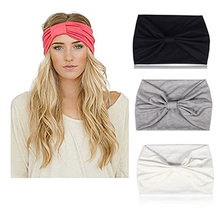 1PC 2019 NEW Occident Wide brimmed Hair Bands Wash Face Makeup Mask Hair Bands Womens Pure color Hair Accessories