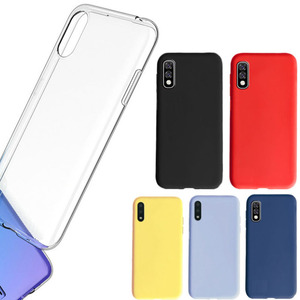 Silicone cover for Samsung galaxy A01 core case transparent A 01 yellow pink red blu soft case for samsung galaxy A01 core cover