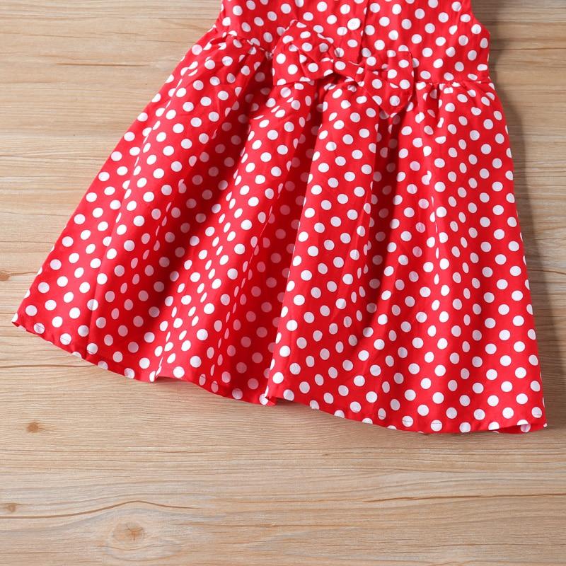 Humor Bear Girl Dresses Kids Clothes  Girl Sleeveless Cute Bow Dot Princess Dress Children Clothing Christmas Baby Girl Clothes 5