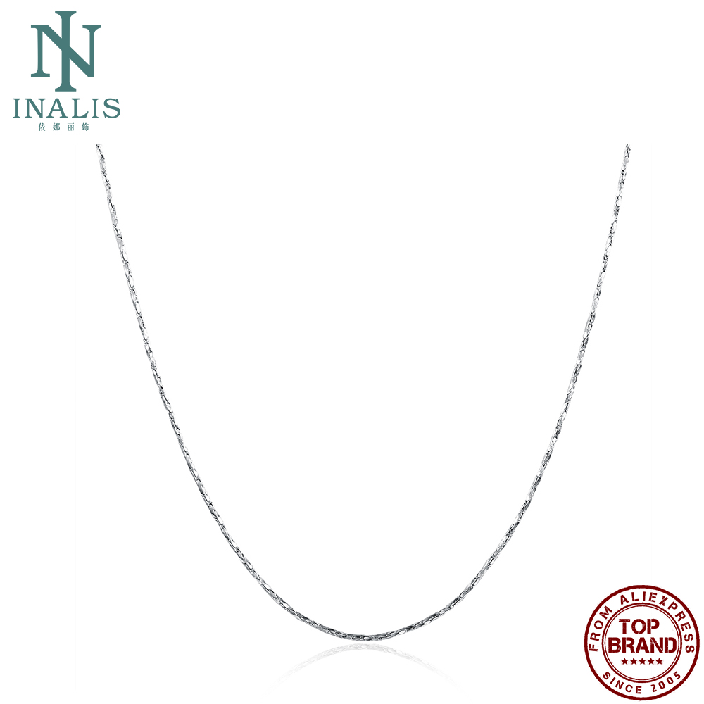 INALIS White Hard Necklaces Women Snake Chain Female Copper Matching Chains Anniversary Fashion Jewelry New Arrival Recommend