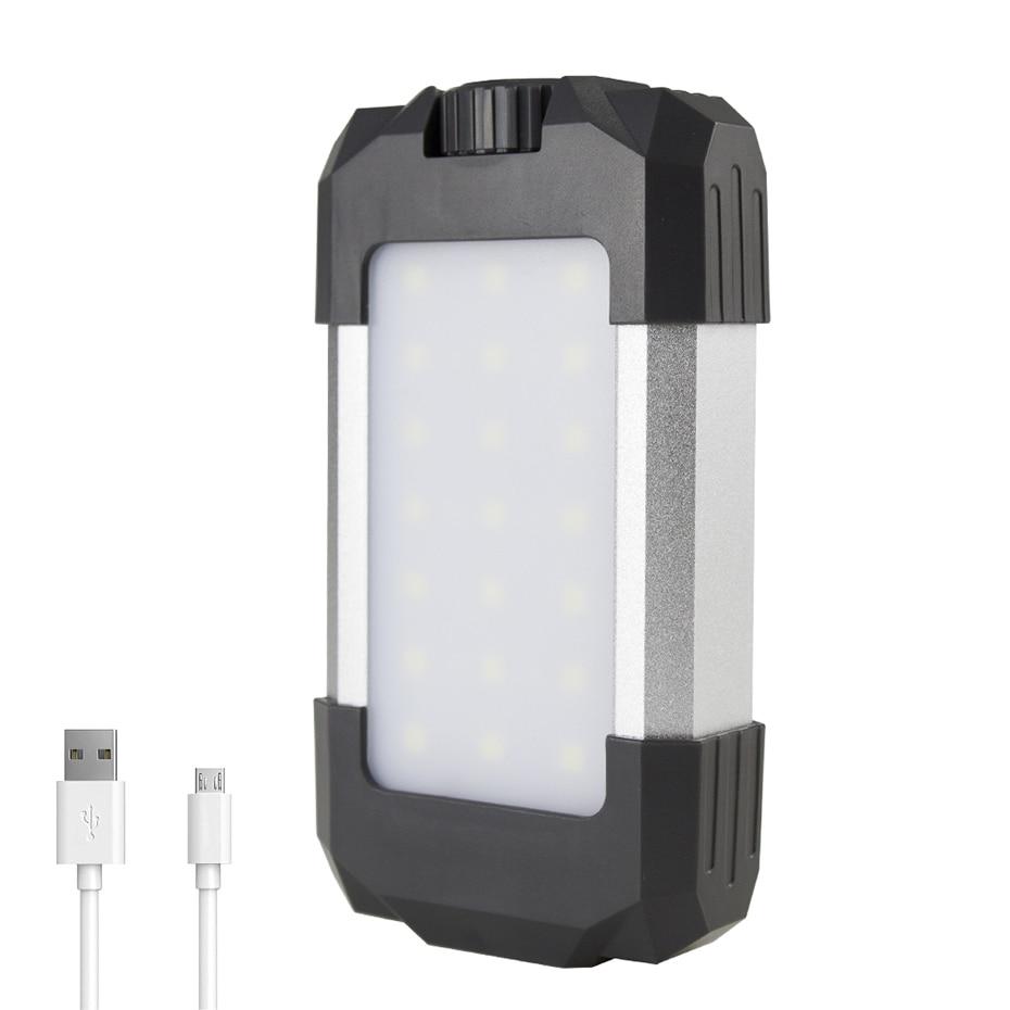 Portable Lighting 15W USB Rechargeable Power Bank Light 6000mAh Dimmable IP5X Waterproof 500lumen Camping LED Lantern Tent Light