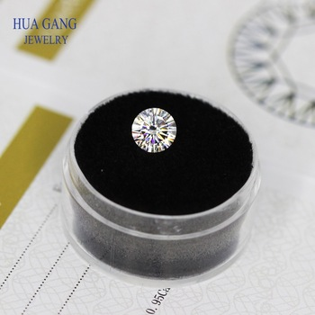 16 Heart And Arrow Cut 2 Carat D Color Moissanite 8mm VVS Clarity Round Lab Grown Loose Stone Test Positive