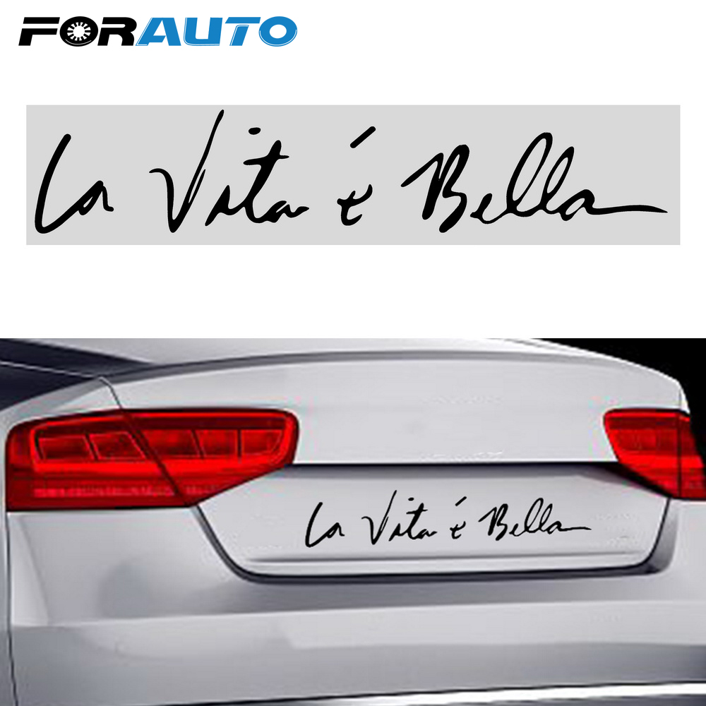 FORAUTO Car Sticker Decal Car Styling Personality For Car Body Window Decoration Life Is Beautiful Stickers Auto Accessories