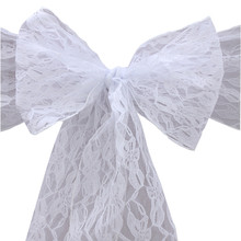 Runner Chair-Sash Butterfly-Cover Wedding-Decoration Banquet Lace Home Bow-Ties Party-Supplies