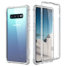 Luksusowa twarda obudowa do Samsung S10 Plus obudowa ekranu protector PC TPU silikonowa 360 ochrona shpock case do Galaxy A50 S10e okładka