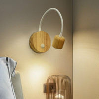 Nordic style long arm wall lamp bedroom personality creative bedside lamp new adjustable telescopic wall lamp LB12178