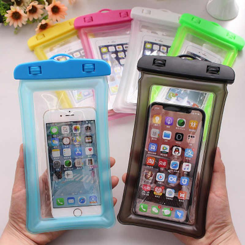 1 sztuk wodoodporny futerał na telefon wodoodporna bateria telefon suchy torba dla IPhone X/smartfonów do 6 Cal akcesoria do telefonów