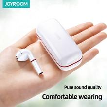 Joyroom Tws سماعة سماعات لاسلكية بلوتوث 5.0 سماعات سماعات للأذن صغيرة مع هيئة التصنيع العسكري سماعة أذن تستخدم عند ممارسة الرياضة لصندوق شحن هاتف ذكي