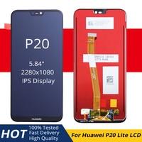 HUAWEI P20 Lite pantalla LCD pantalla táctil pantalla Original para HUAWEI P20 Lite LCD con reemplazo de Marco Ane lx1 Lx3 Nova