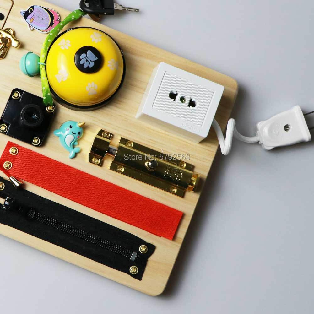 Tablero de juguete montessori para bebés, piezas de elementos de juguete de madera diy para niños pequeños, juguetes para mesa de actividades, educación temprana para niños - 2
